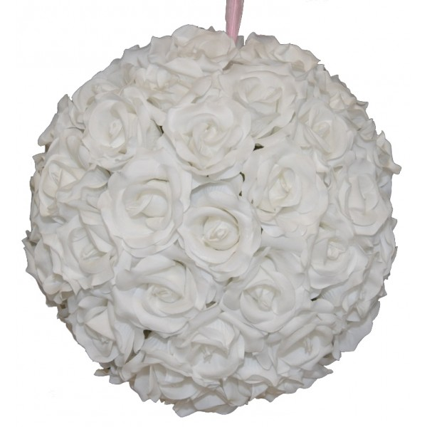 7 Inches White Flower Ball: Flower Ball 12 Inch White Rentals Columbia MO