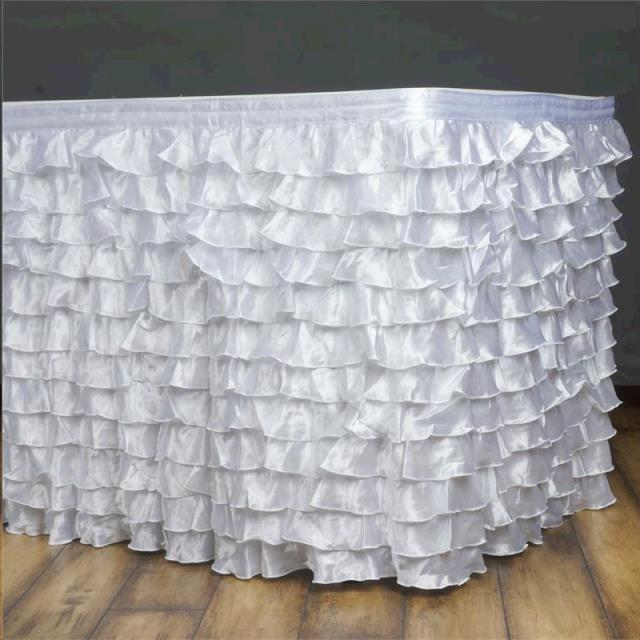 Where to find LINEN SKIRT 17  SATIN RUFFLE in Columbia