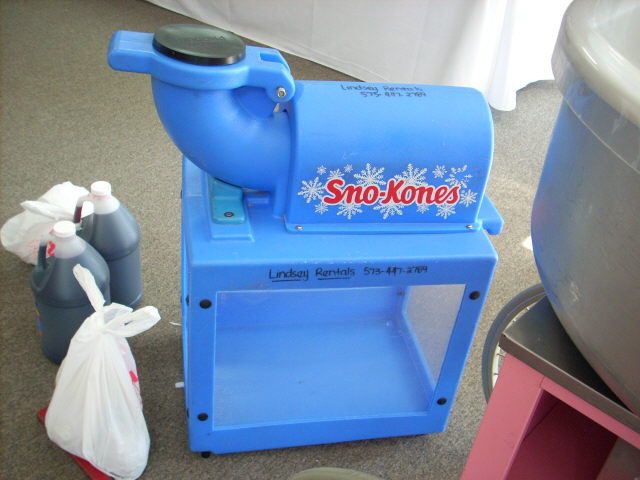 Where to find SNOW CONE MACHINE BLUE in Columbia