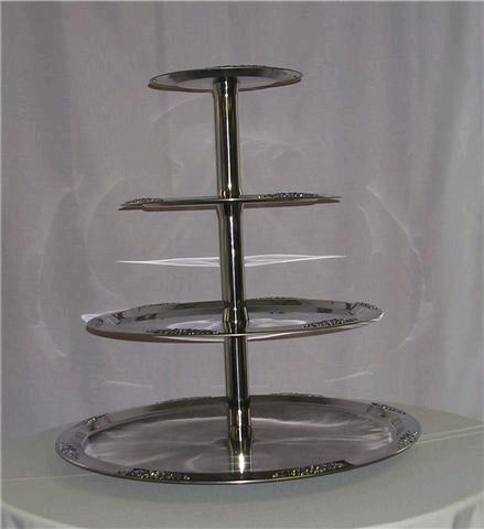 Where to find SILVER 4 TIER MODERN TRAY in Columbia