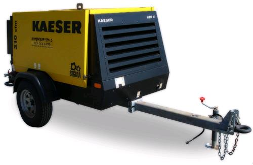 Where to find AIR COMP 210 CFM KAESER TOW in Columbia